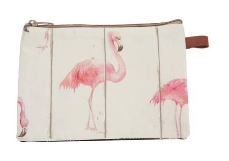 Cosmetic Bag Flamingo 20x14